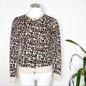 A New Day | Animal Print Knit Cardigan Sz. XS